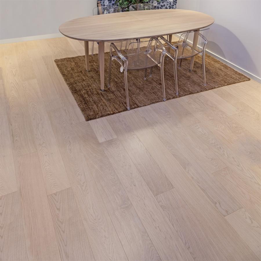 22mm Eg Select 185mm Wiking Trægulv Plankegulv hvid matlak til strøer